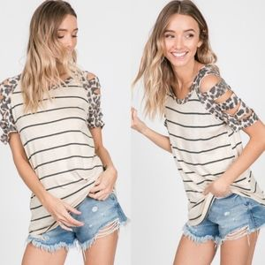 WINONA Cut out Sleeve Top